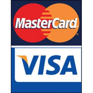 We Accept VISA & Mastercard Debit Credit
