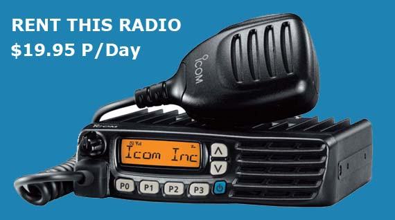 Rent ICOM Logging Road Radio - Buy the ICOM VHF 5023H